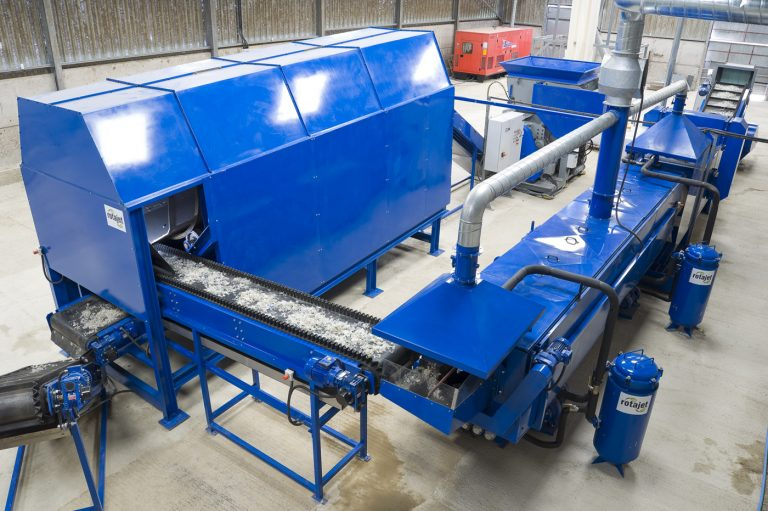 operation of a plastic recycling plant