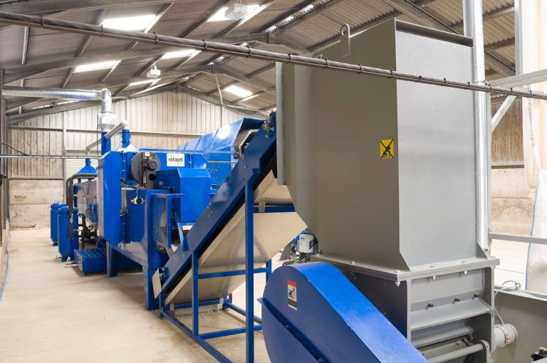 plastic recycling plant in operation