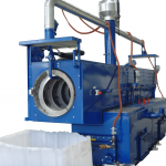 Rotary washer for plastic recycling