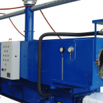 plastic rotary washer during operation