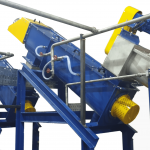 series of friction washer in plastic recycling line