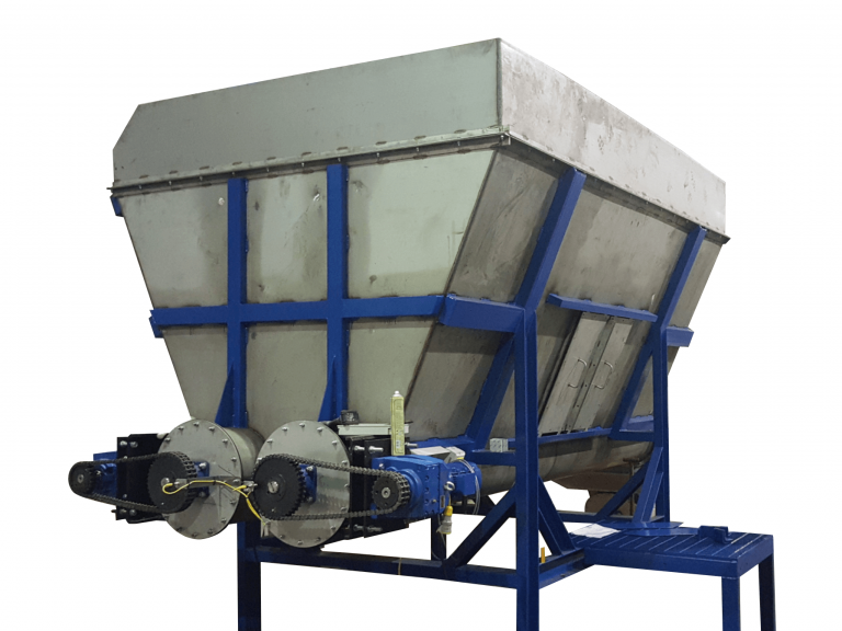 Feed hopper used in plastic recycling