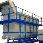 sink float tank to separate plastics during recycling