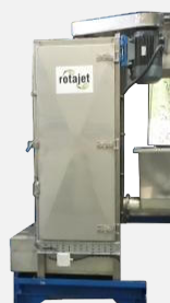 front view of a vertical plastic dryer
