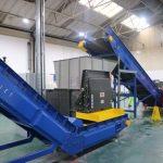 incline conveyor for plastics