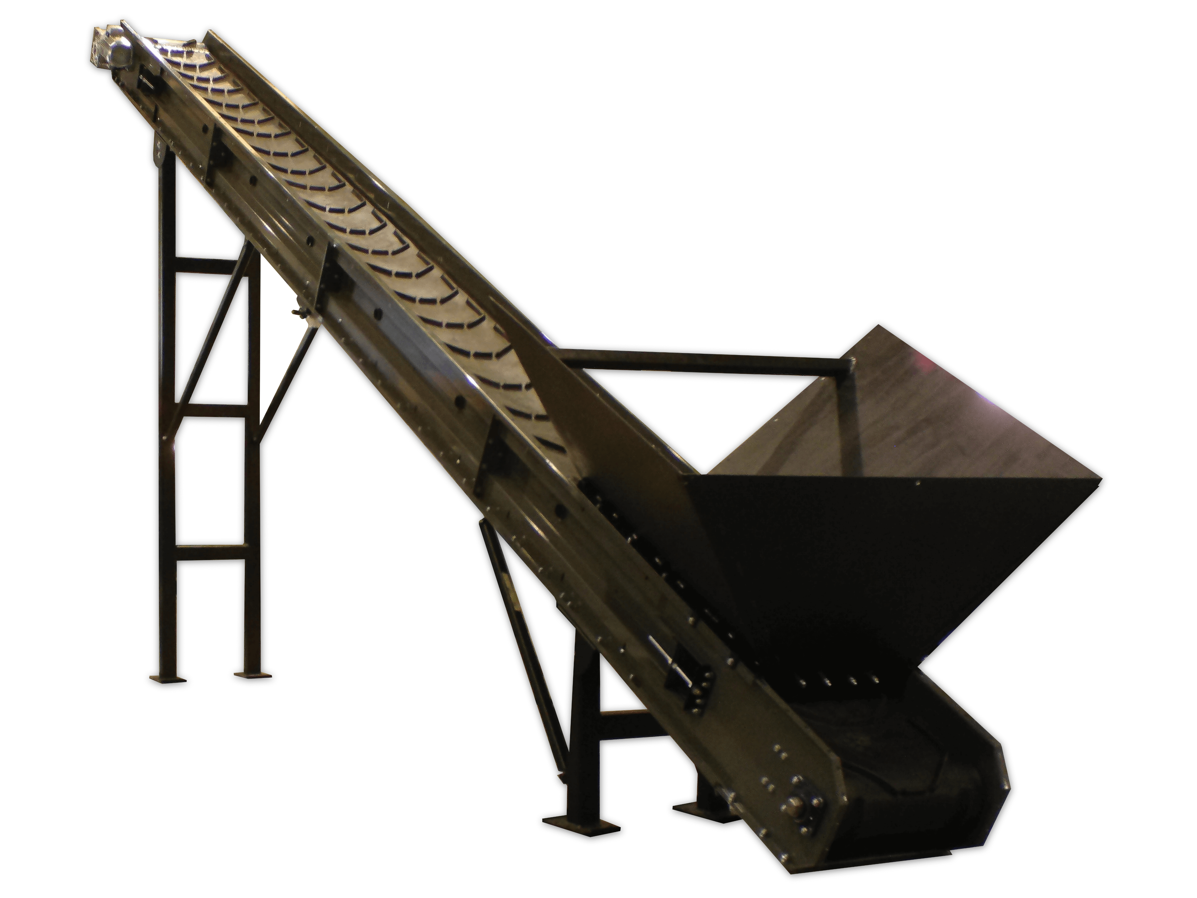 conveyor for moving recyclables