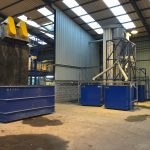 zigzag separator incorporated into plastic recycling plant