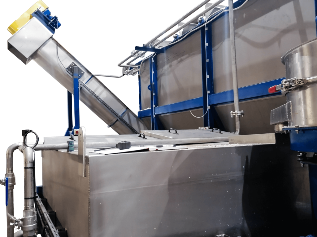 Sink float tank for plastic separation