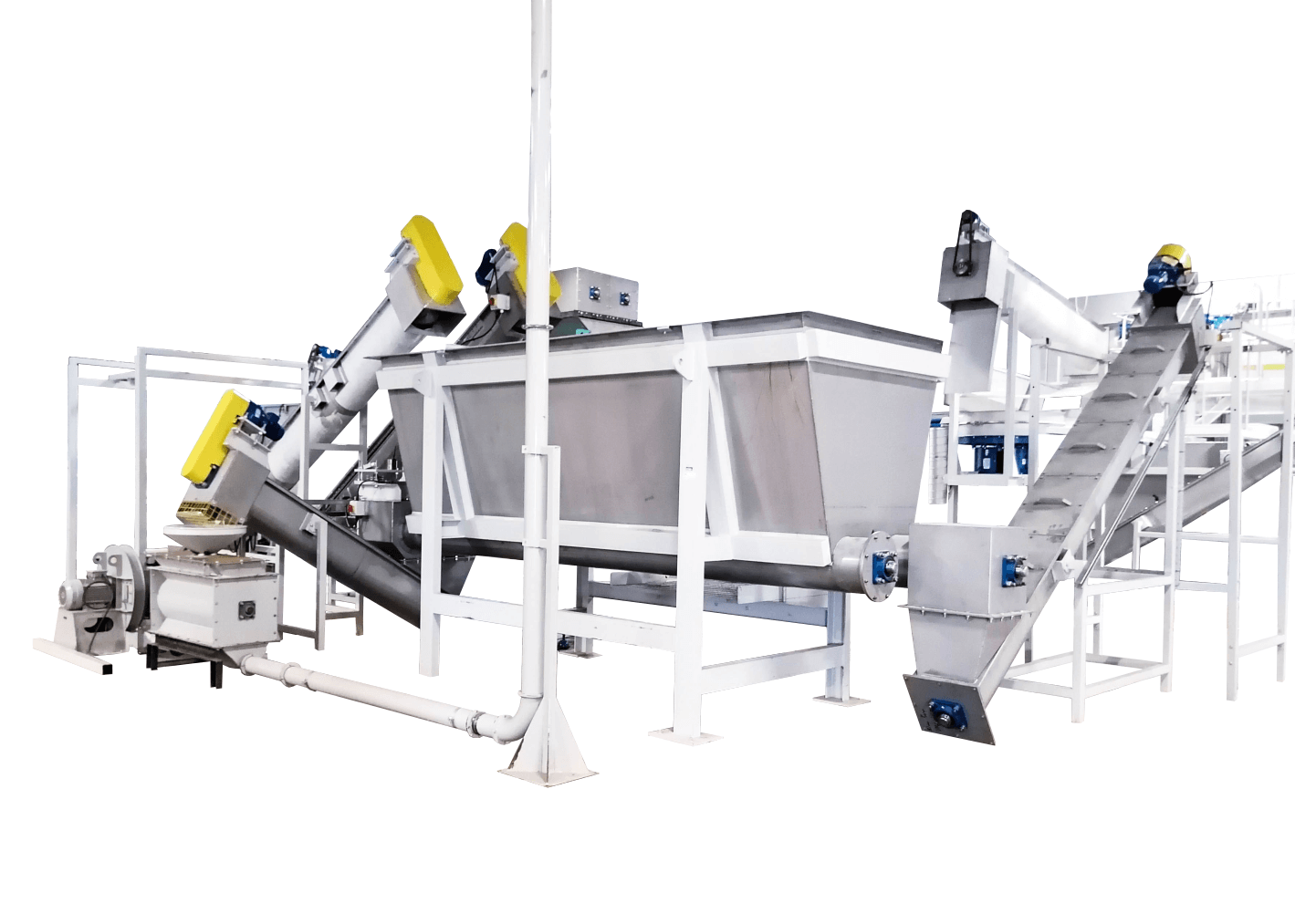material in feed hopper