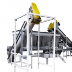 feed hopper with screw conveyors